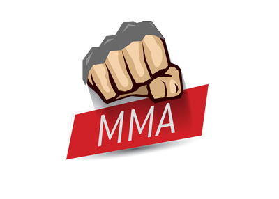 The MMA punch - Red title square - The fight is on - Matchup.