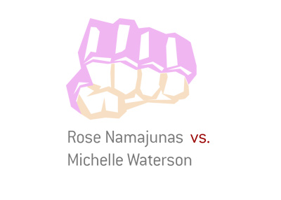 Mixed Martial Arts fight matchup and odds - Namajunas vs. Waterson.  Year is 2017.