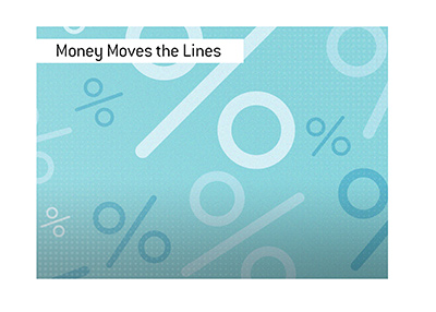 Money moves the lines in the game of sports betting.