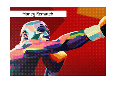 Will there be a money rematch between Mayweather and Pacquiao?  Illustration.