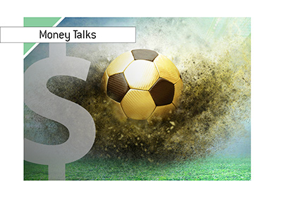 Money talks in the sport of football - Illustration.