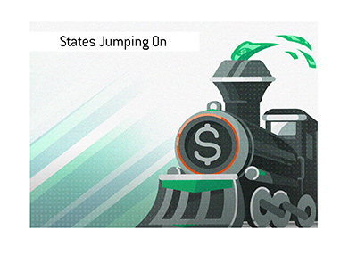 The American states are jumping on the money train in regards to legalization of sports gambling.