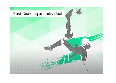 The record number of goals scored by an individual in a single game is...