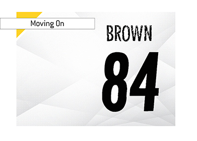 Wide receiver Antonio Brown is on the move.  Likely destination?  Raiders.