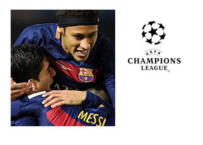 Messi, Suarez and Neymar - UEFA Champions League