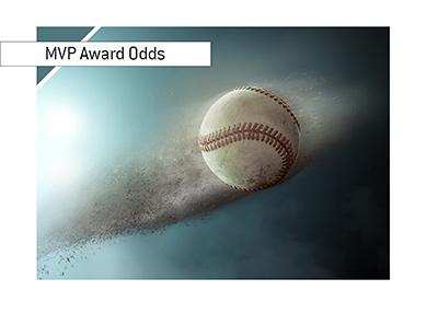 The rising baseball star - Christian Yelich - is nominated for the NL MLB MVP award - Home run illustration.