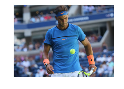 Rafael Nadal - Photographed during a match.  Deep blue focus.