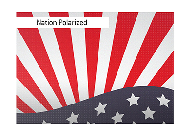 The polarized nation awaits the upcoming presidential election.