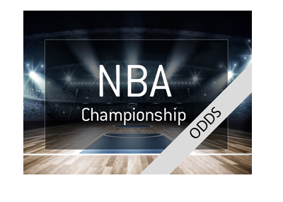 The National Basketball Association - NBA - Odds to win 2018 Championship. Graphic presentation.