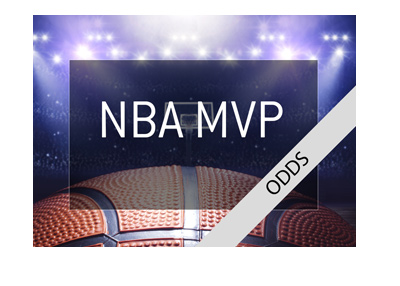 The National Basketball Association - NBA - Odds to win MVP award - 2018/19 season.
