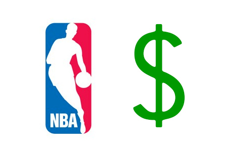 NBA Logo next to a Dollar sign - Illustration - Concept