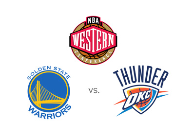 The NBA Western Conference Finals 2015/16 season - Golden State Warriors vs. Oklahoma City Thunder - Matchup, odds and logos