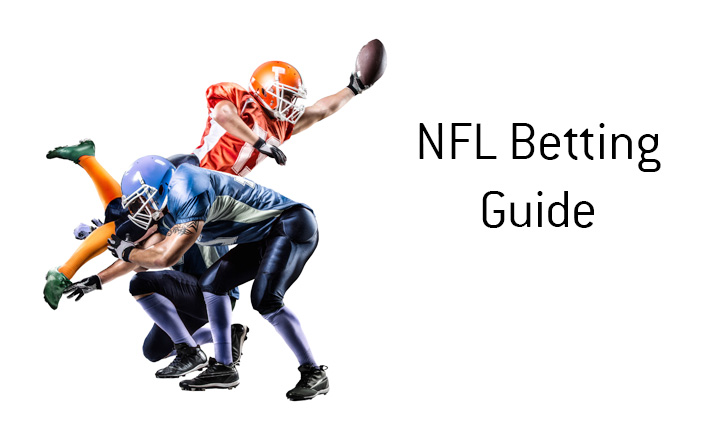 The guide on how to bet on the National Football League, the NFL.  Illustration.