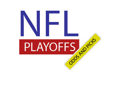 NFL Playoffs - Odds and Picks.  In blue, red and yellow colours.