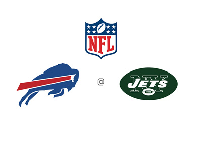 National Football League (NFL) Matchup - Buffalo Bills vs. New York Jets - Team logos, preview and odds