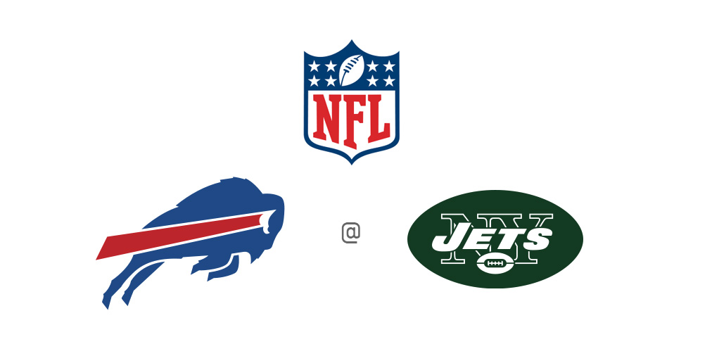 The NFL Matchup - Buffalo Bills at New York Jets - Logo, preview and odds