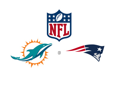 NFL (National Football League) Matchup - Miami Dolphins vs. New England Patriots - Preview and odds