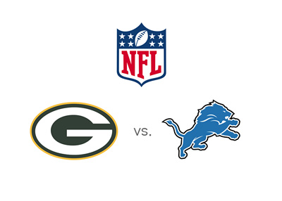 NFL - Green Bay Packers vs. Detroit Lions - Matchup and team logos - Odds to win