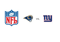 NFL - St. Louis Rams vs. New York Giants - National Football League logos
