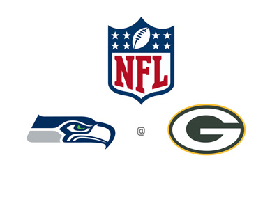 NFL Matchup - Seattle Seahawks at Greenbay Packers - Odds, preview and team logos