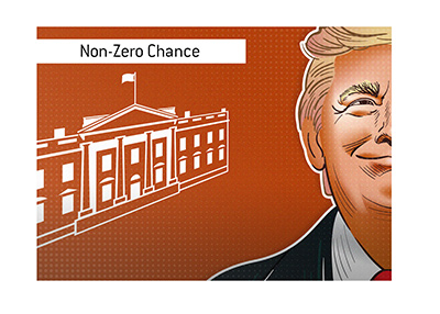 There is a non-zero chance that Trump is still in the White House come February 2021, according to the odds.