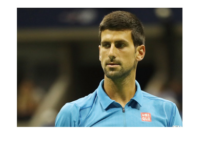 Novak Djokovic is in the zone.  Thinking on the court.