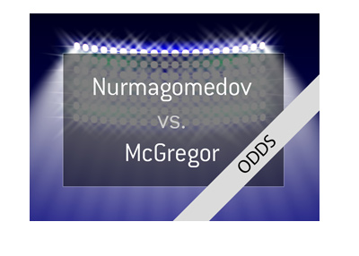 Khabib Nurmagomedov vs. Conor McGregor potential superfight - MMA - UFC - Odds and lead up. Year is 2018.