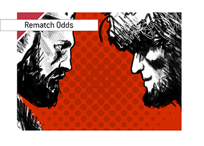 Rematch odds for the UFC fight between Khabib Nurmagomedov and Conor McGregor - Illustration.