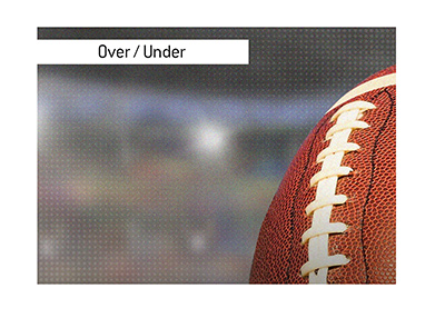 The over / under in American football can be an exciting / frustrating bet.