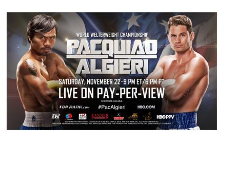 Manny Pacquaio vs Chris Algieri - Event Poster - November 22nd, 2014