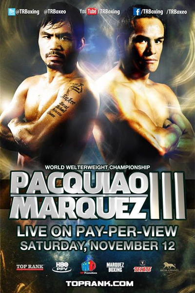 Manny Pac Man Pacquiao vs. Juan Manuel Marquez III - MGM Grand in Las Vegas - Large poster size