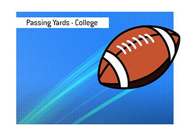 The record for most passing yards in a college game belongs to...