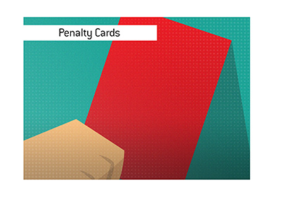 Penalty cards in soccer.  What game had the most?