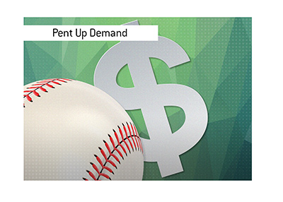 The sports are back and there is a pent up demand for betting on it.