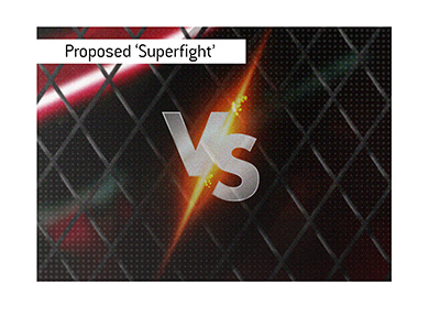 Mixed Martial Arts proposed superfight. MMA cage.