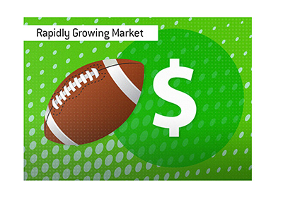 The sports betting industry in the United States is growing at a rapid pace.