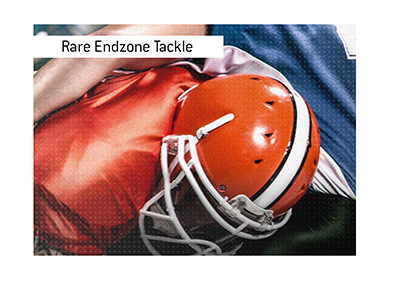 A rare endzone play in American Football - The 1-point-tackle.