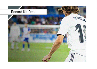 Real Madrid look to sign a record kit deal with Adidas.