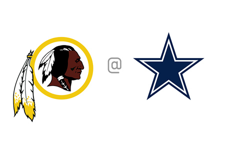 Washington Redskins vs. Dallas Cowboys - Team Matchup / Logos / Crests - Football - NFL