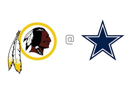 Washington Redskins vs. Dallas Cowboys - Team Matchup / Logos / Crests - Football - NFL