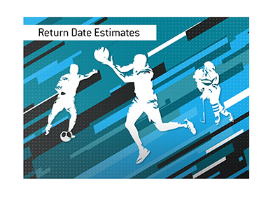 The estimates for the return of  North American league sports.