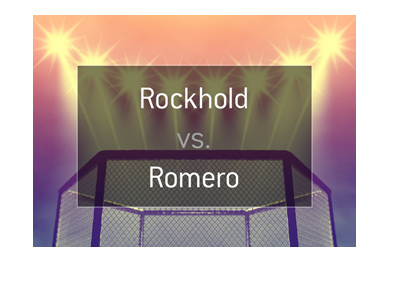 MMA matchup and odds. Luke Rockhold vs. Yoel Romero.