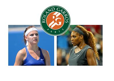 Roland Garros 2015 Final - Lucie Safarova vs. Serena Williams - Logo and photos