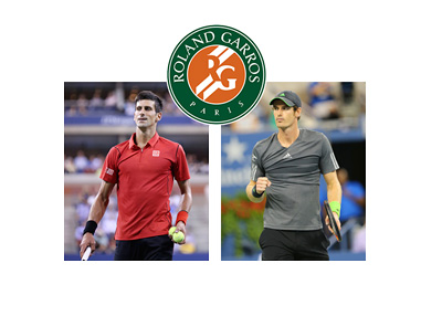 Novak Djokovic and Andy Murray meet in the 2015 Roland Garros finals - Matchup and Betting Odds
