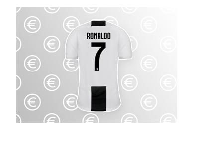 CR7 - Cristiano Ronaldo - Number 7 Juventus jersey / shirt - 2018/19 season.