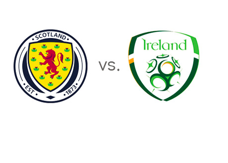 Football Matchup - Scotland vs. Ireland - Head to Head - Team Badges / Logos