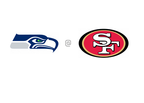 Seattle Seahawks vs. San Francisco 49ers - Team Logos - Matchup and Odds - NFL