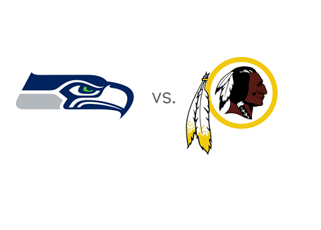 Seattle Seahawks at Washington Redskins - Team Logos / Badges - Matchup