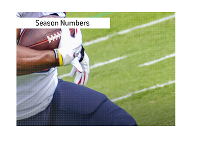 The not so great season numbers for quarterbacks in the National Football League.