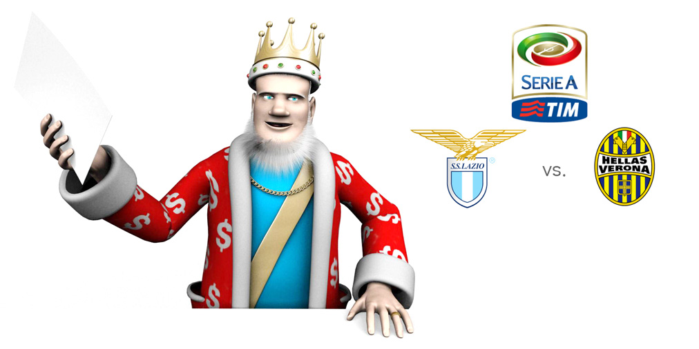 The King presents: Serie A match between Lazio and Verona